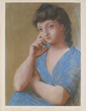 La Femme en Bleu Collectable Print by Pablo Picasso