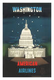 Washington DC - American Airlines - USA Capitol Building Giclee Print by E. McKnight Kauffer