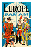 Europe - Pan American Airways (PAA) - British Yeomen of the Guard, Pontifical Swiss Guard Giclee Print