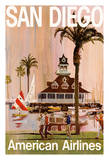 San Diego - California - American Airlines Giclee Print