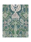 Emerald Ikat I Giclee Print by Chariklia Zarris