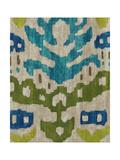 Teal Ikat II Giclee Print by Chariklia Zarris