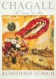 Au Dessins de Paris Collectable Print by Marc Chagall