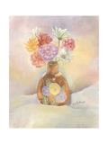 Vase of Mums Posters by Judy Mastrangelo
