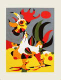 The Rooster Serigraph by Joan Miró