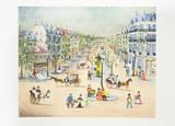 Rue de Castiglione Collectable Print by Claude Tabet