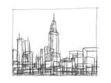 Wire Frame Cityscape II Posters by Ethan Harper