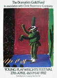 Detail from Pulcinella With Applause Collectable Print by David Hockney