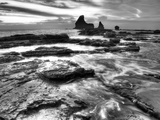 B&W Rushing Tides Photographic Print by Nish Nalbandian