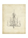 Classical Chandelier IV Print by Ethan Harper