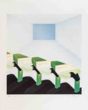 Four Green Shapes in Continuous Space Limited Edition by Frank Roth