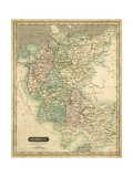 Thomson's Map of Germany Plakater af Thomson