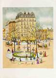 Place de la Fontaine Limited Edition by Claude Tabet