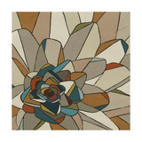Stained Glass Floral II Prints by Erica J. Vess