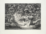 Le Charlemaagne (Foret de Fontainblue) Collectable Print by Eugene Blery
