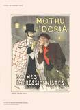 Mothu et Doria Collectable Print by Théophile Alexandre Steinlen