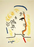 Tete d'Homme Collectable Print by Jean Cocteau