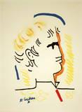 Tete d'Homme Collectable Print by Jean Cocteau