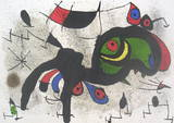 Derriere le Miroir, no. 193-194, pg 2,3 Collectable Print by Joan Miró