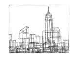 Wire Frame Cityscape I Prints by Ethan Harper