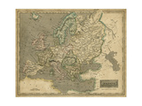 Thomson's Map of Europe Prints by  Thomson