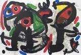 Derriere le Miroir, no. 186, pg 10,11 Collectable Print by Joan Miró