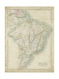 Sidney Hall - Map of Brazil - Reprodüksiyon