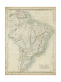 Map of Brazil Giclee Print by Sidney Hall