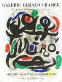 Oeuvre Grave Et Lithographie Collectable Print by Joan Miró
