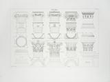 Details Grecs, Bases et Chapiteaux Collectable Print by  Leonardo da Vinci