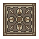 Piazza Tile in Brown II Prints by Erica J. Vess