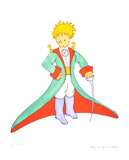 The Little Prince and his Cape (lg) Collectable Print by Antoine de Saint-Exupéry