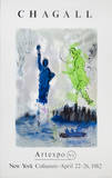 Statue of Liberty Collectable Print by Marc Chagall