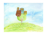 Owl Family Prints by Ingrid Blixt