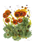Poppy Whismy VII Print by Cheryl Baynes