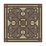 Piazza Tile in Brown IV Prints by Erica J. Vess