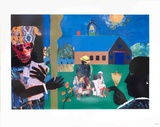 School Bell Time Serigraph by Romare Bearden