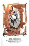 Study For Standing Baseball Mitt and ball Collectable Print by Claes Oldenburg