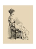 The Wall Flower Prints by Charles Dana Gibson