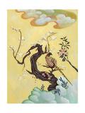 Asian Bird Illustration III Print by Judy Mastrangelo