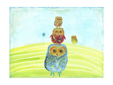 Owl Totem Print by Ingrid Blixt