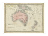 Map of Australia Kunst af Sidney Hall