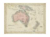 Sidney Hall - Map of Australia Reprodukce