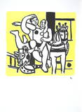 Le Jeu (The game) Collectable Print by Fernand Leger