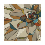 Stained Glass Floral I Print by Erica J. Vess