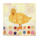 Polka Dot Duck Art by Ingrid Blixt