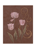 Tulips with Scroll II Posters by Judy Mastrangelo