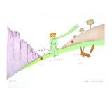 Le Petit Prince et le Renard (lg) Collectable Print by Antoine de Saint-Exupéry