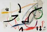 Maravillas 1059 Collectable Print by Joan Miró