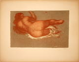 Jeune Femme Couchee sur le dos, une Jambe Levee Collectable Print by Aristide Maillol